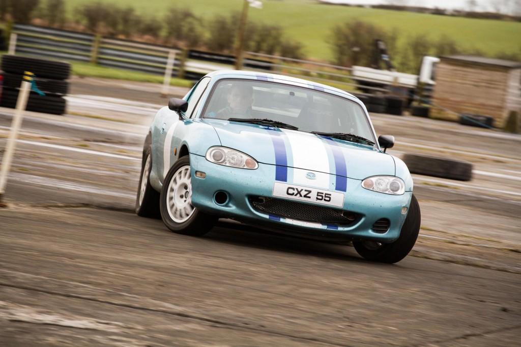 2nd overall - Robert Woodside (Mazda MX-5)