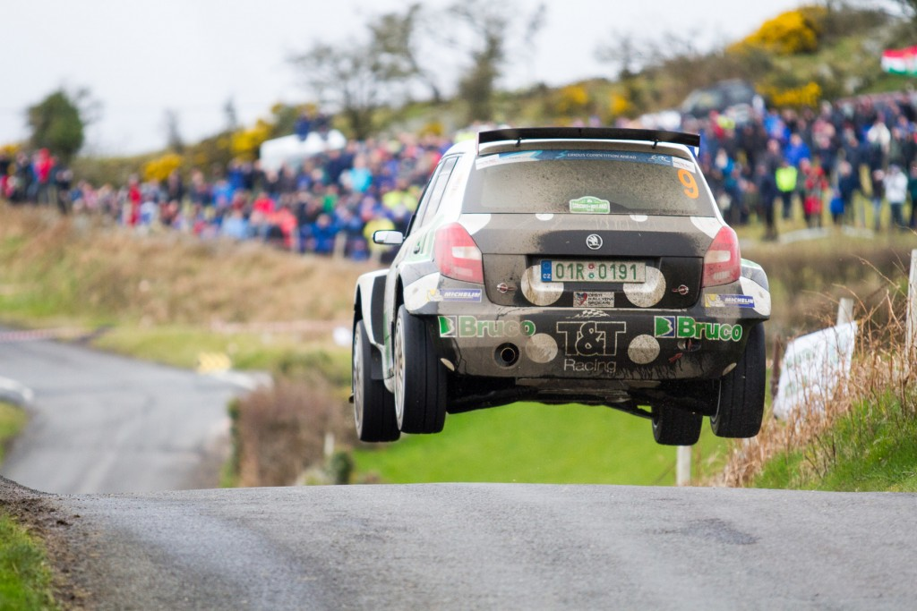 "Jaromir Tarabus (CZE) flying over ""The Folly"" on last years event in a Skoda Fabia"