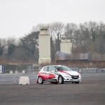 Moira A Level student and driver William Creighton in his Peugeot 208 R2