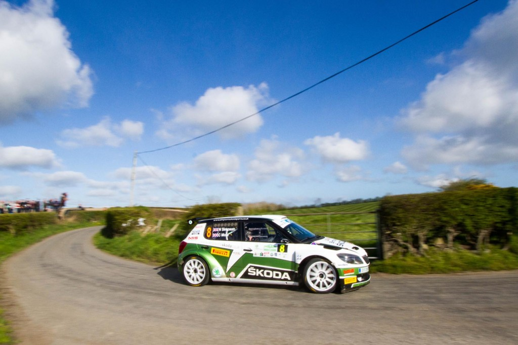 Neil Simpson in action on the 2014 Circuit of Ireland Rally -Image Graham Curry