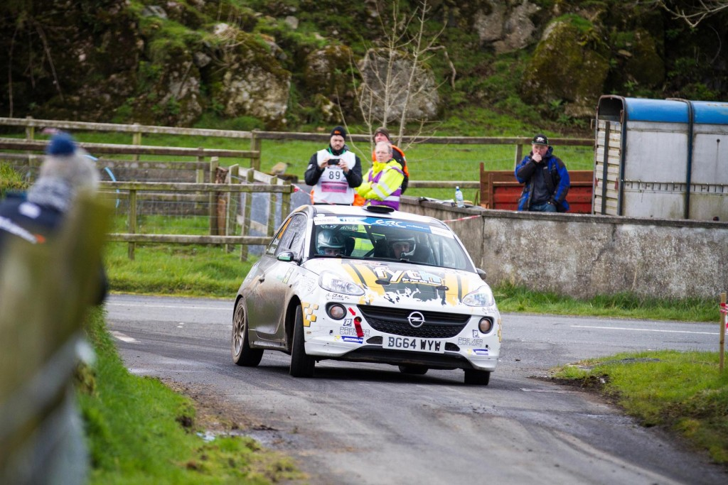 Callum Devine on his way to a class win