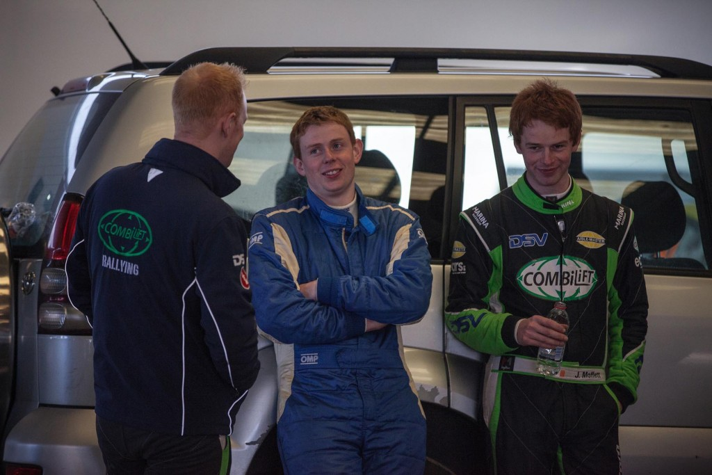 L-R; Sam Moffett, Stephen Wright & Josh Moffett relax and have some craic ahead of the start ramp
