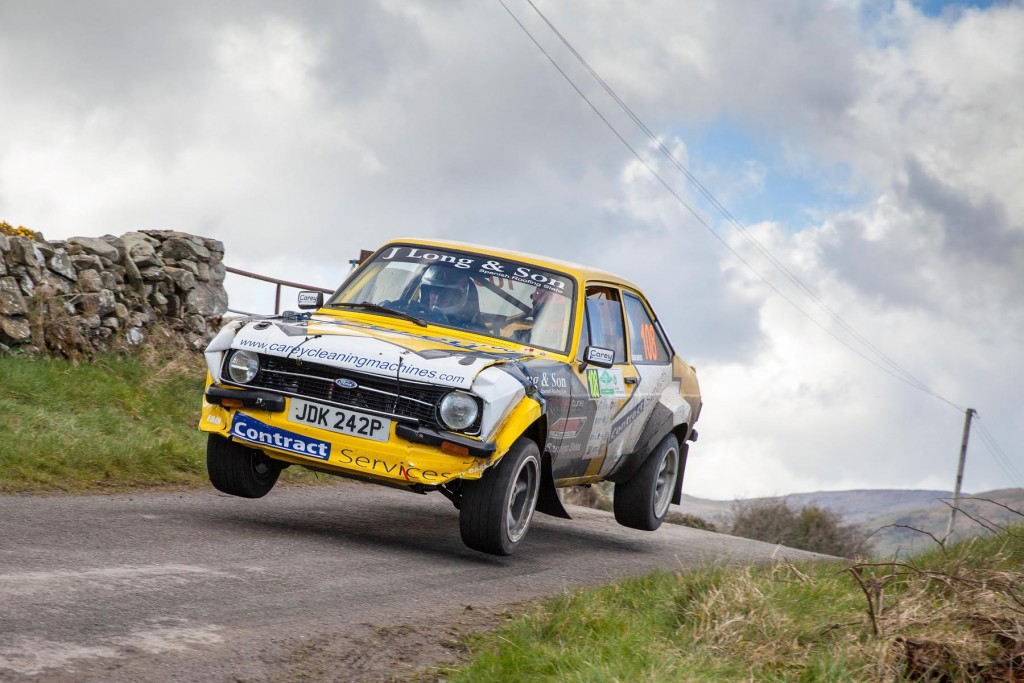 Declan McNaughton in his rather second hand looking Escort