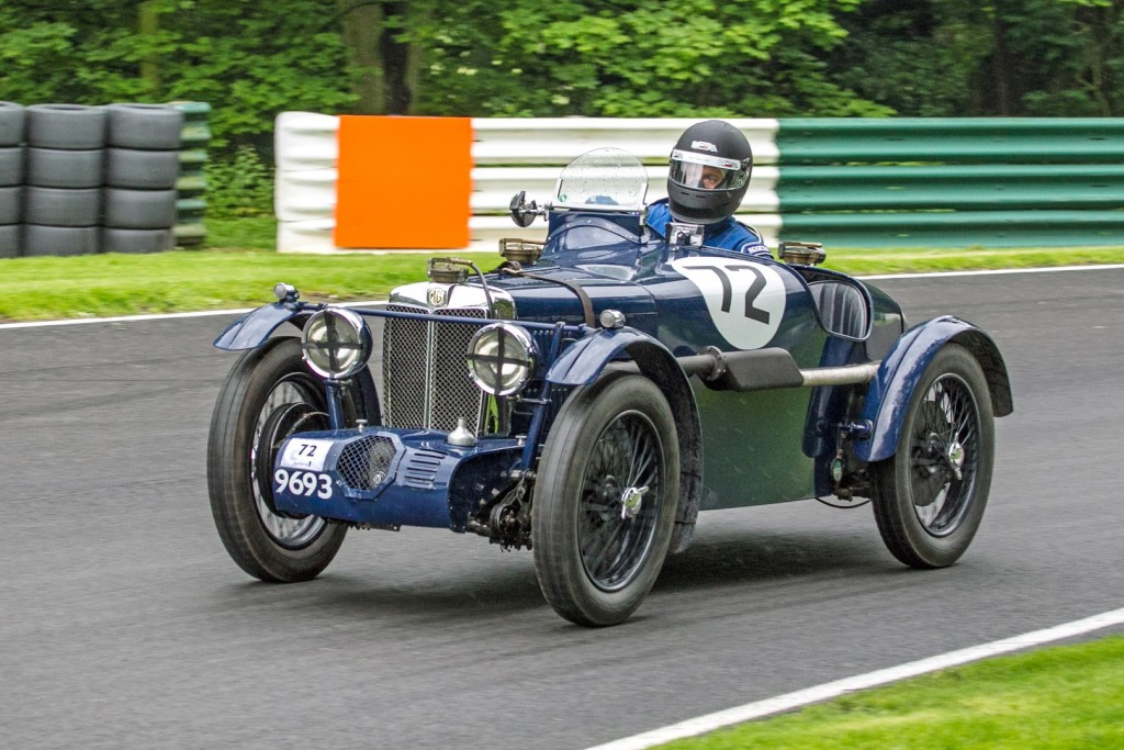 Duncan Potter driving his 746cc Supercharged MG, C Type. Photo: Dennis Rushton