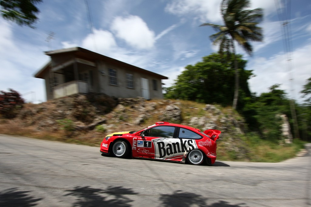 Paul Bourne on the 2010 SOL Rally Barbados. Picture - Graham Curry Photography