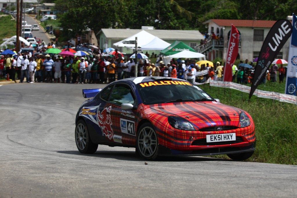 Scotland's Kenny Hall in his Team Tartan Ford Puma on the 2010 SOL Rally Barbados. Picture - Graham Curry Photography