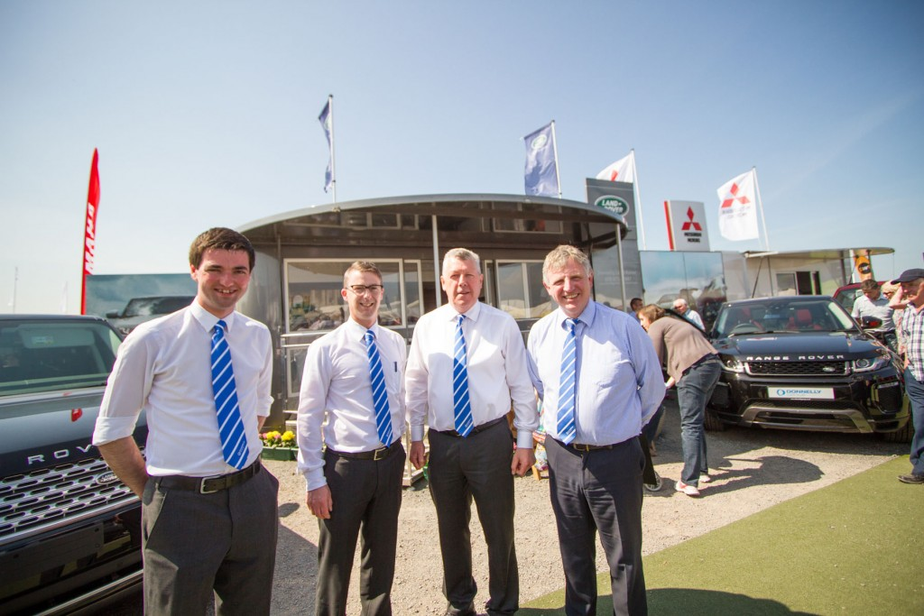 Terrence Donnelly with some of the sales team | Donnelly Group NI