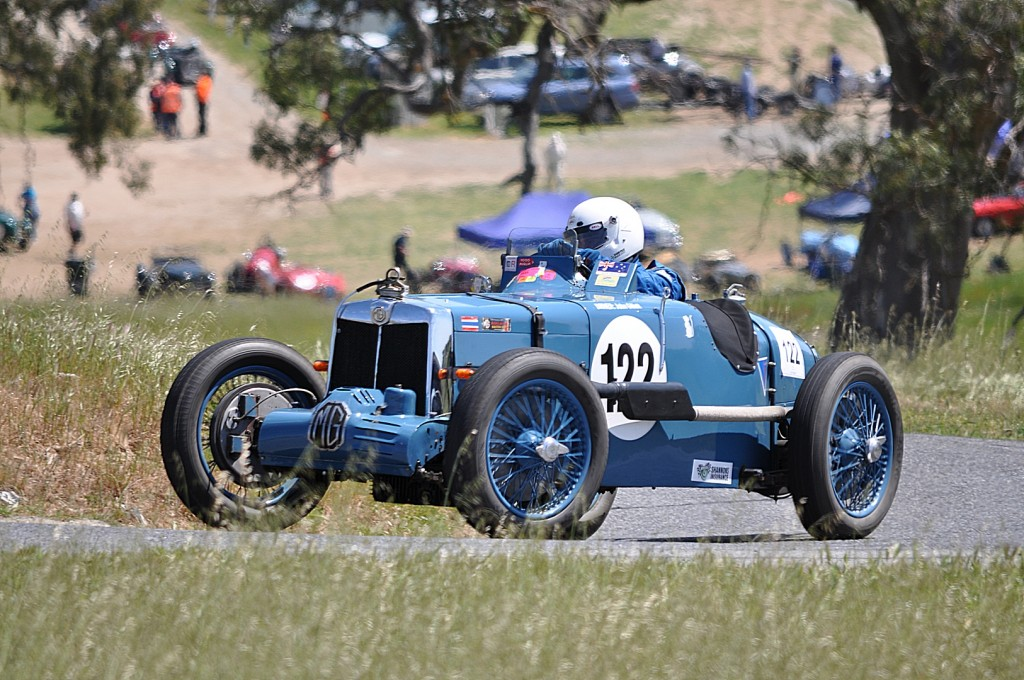 John Gillett driving his 1935 1067cc, MG K3 Magnette.