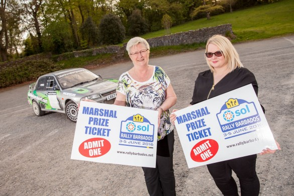 Marshals Julie Edghill and Nicole Adair with their prizewinning 'tickets' in Clandeboye Estate, Bangor. Picture:Graham Curry Photography