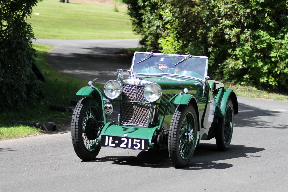 Emily Johnston driving her father Simon Johnson's 1933 847cc, MG J2. Photo: Graham Curry