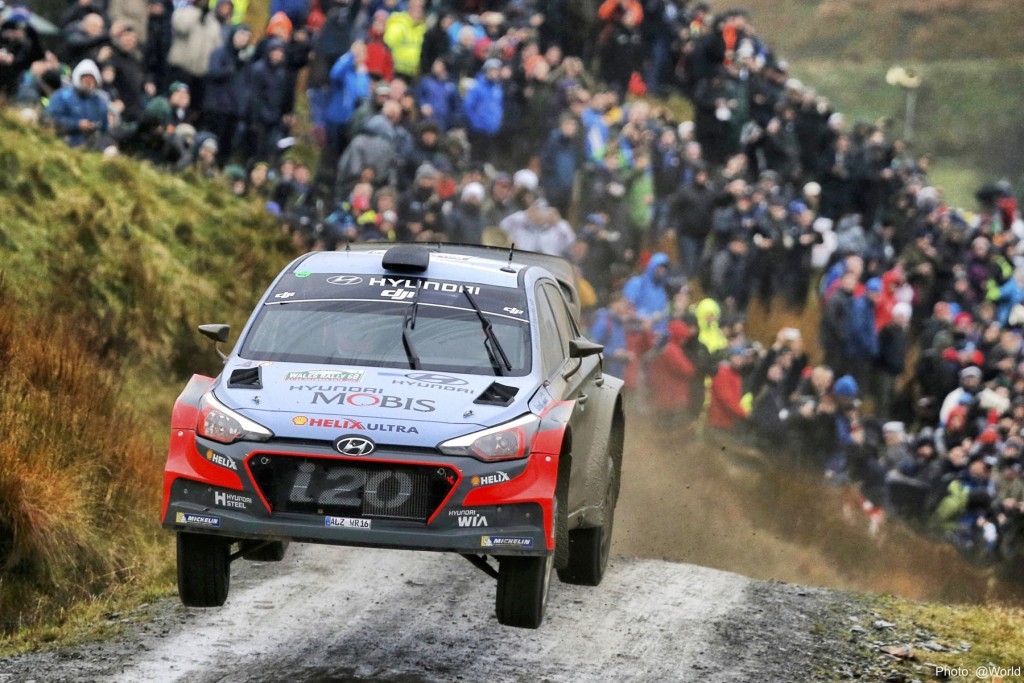 Hyundai scored its first Dayinsure Wales Rally GB podium