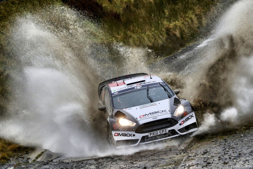 Ott Tanak finished a close second on Dayinsure Wales Rally GB