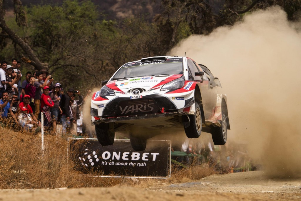 Jari-Matti Latvala  (EST) performs during the FIA World Rally Championship 2017 in Leon, Mexico on March 12, 2017