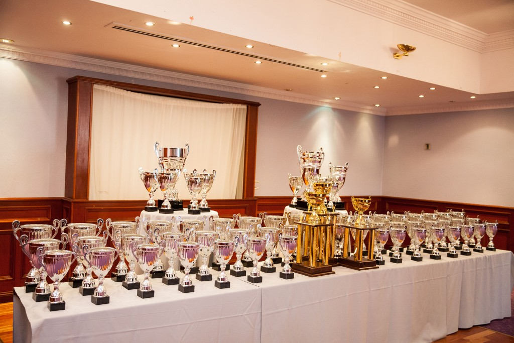 Just a small selection of the trophies up for grabs at Ballymena Carfest Launch 2017