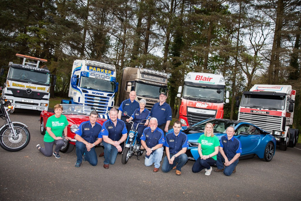 The Ballymena Carfest Team along with the MacMillan Cancer fundraising team at the launch of the 2017 Ballymena Carfest.