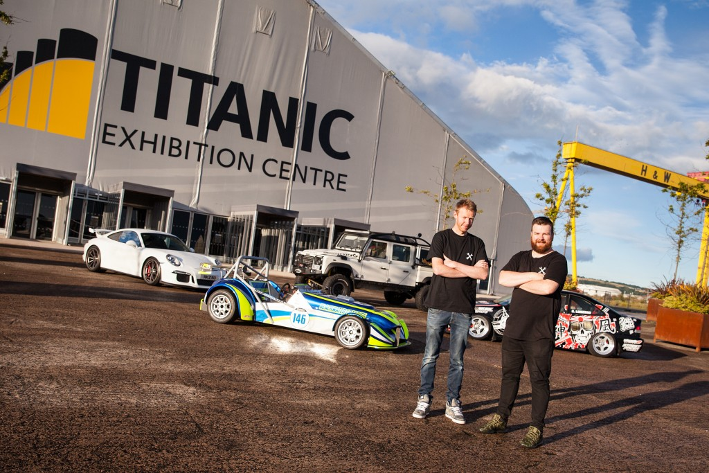 Organisers with some of the cars that will be attending the show