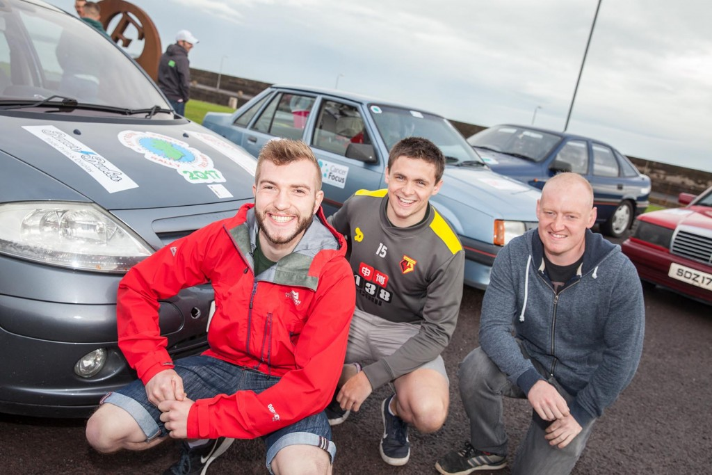Jordan Barr, Matthew Gourley and Andrew Bennett aka 'Team Car of the County Down'
