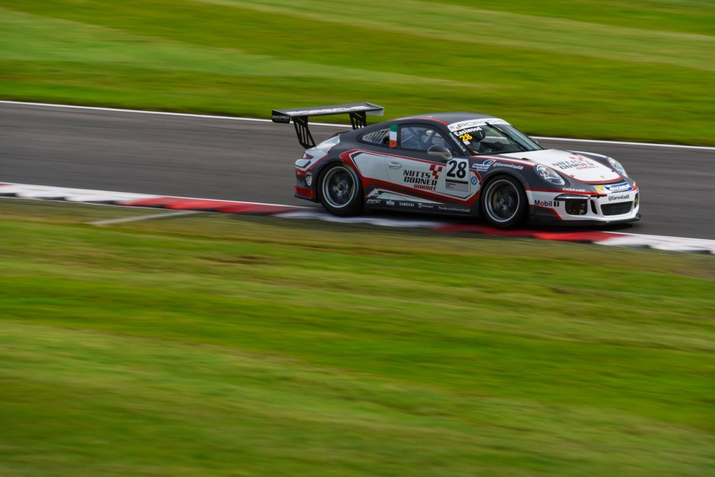 Charlie Eastwood in his Porsche Carrera Cup GB car at Brands Hatch