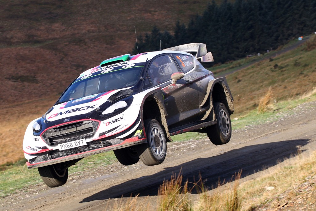 Elfyn Evans on his way to winning Dayinsure Wales Rally GB