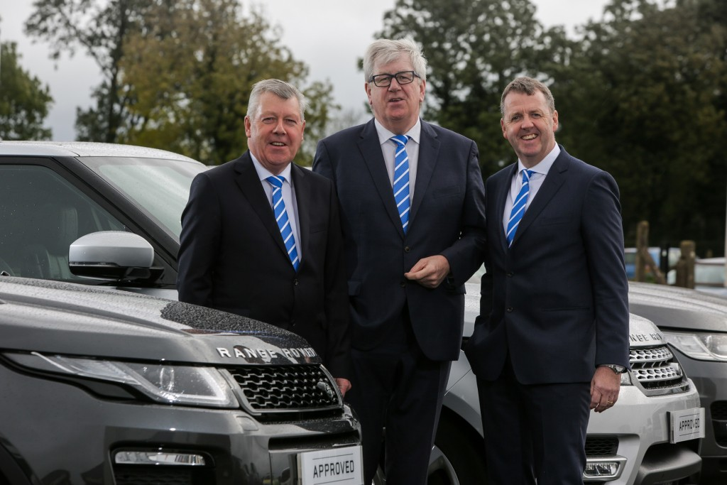 Terence Donnelly, Raymond Donnelly and Dave Sheeran JLR