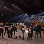 Lead actors - street racer Sophia Diaz and DSS Agent Dawson along with the stunt drivers during the dress rehearsal at the NEC Birmingham, the live show is set to roll into Belfast's SSE Arena in May 2018