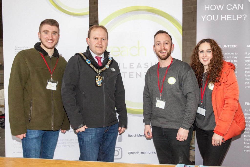 Mayor of ABC Council, Gareth Wilson with staff and volunteers from reach Mentoring