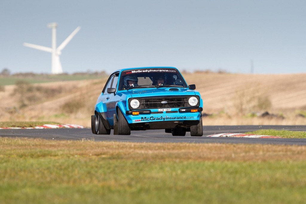 Fintan McGrady in his Ford Escort MkII