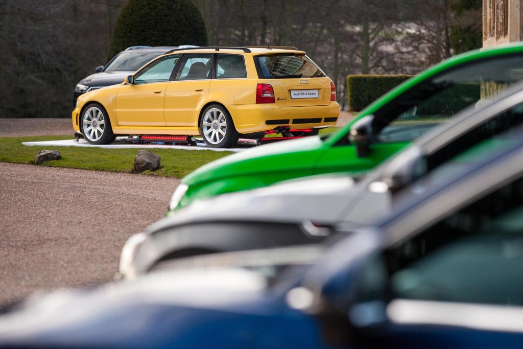 An original RS4 Avant  in the distance - the car that we all fell in love with almost 2-decades ago...