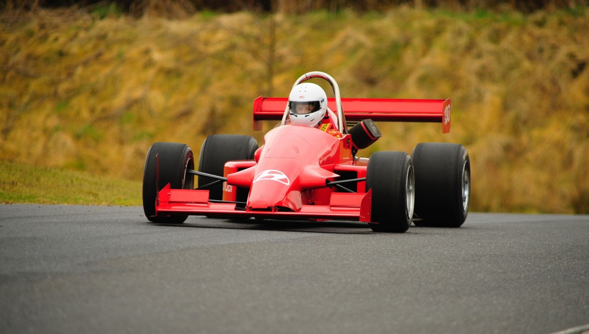Fastest overall and class 15 winner John Morgan in his Pilbeam MP82