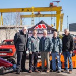 Robert Kelly (Association of Northern Ireland Car Clubs); Conor Lavery (Championship Co-ordinator); John Rice & Murray Harrison (JEM Oils); Chris Houston (Reigning NI Hillclimb champion) at the launch of the 2018 ANICC Millers Oils Northern Ireland Hillclimb Championship.