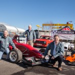Murray Harrison & John Rice (JEM Oils – Millers Oils Authorised Distributor); Conor Lavery (Championship Co-ordinator) at the launch of the 2018 ANICC Millers Oils Northern Ireland Hillclimb Championship.