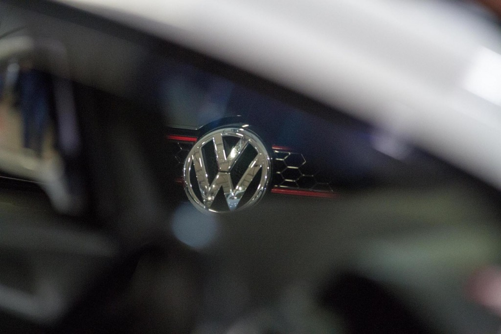 Everywhere you look, even through the windows of another car, VW's are everywhere...