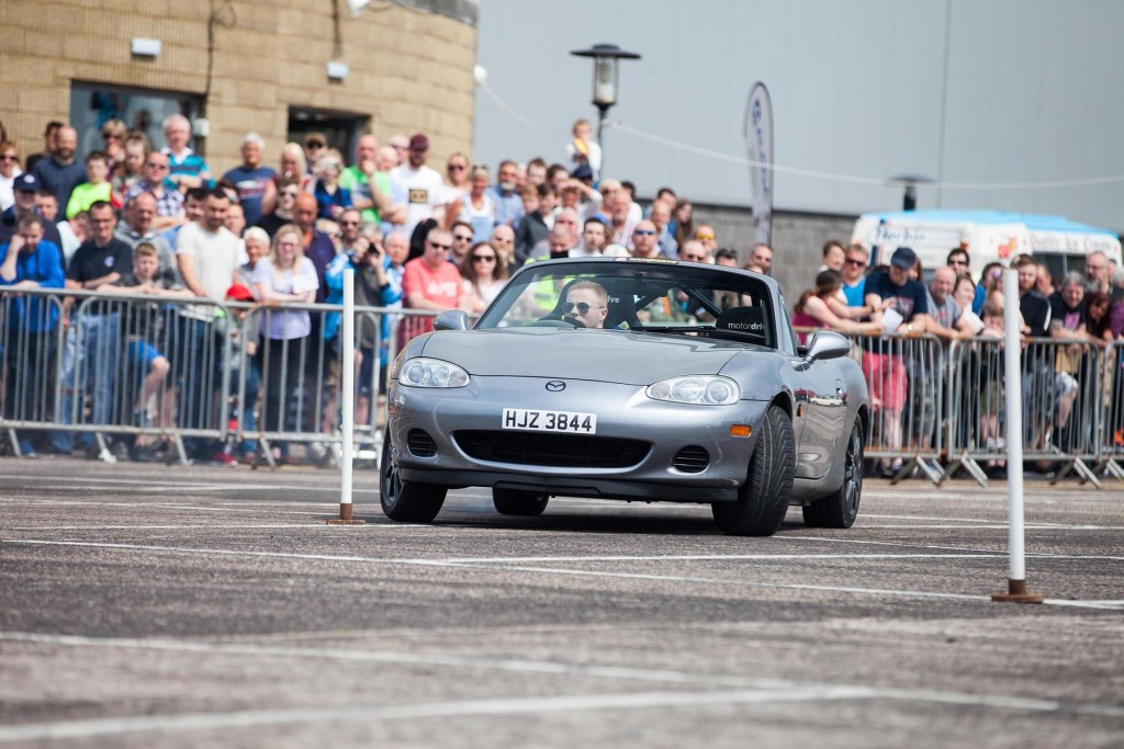 Mark Francis enthralling crowds during the TSCC NI autotest demo