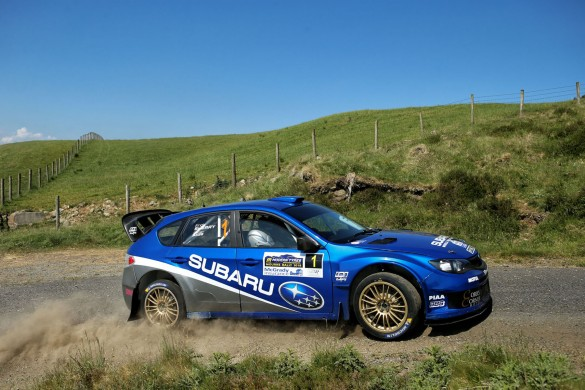 Derek McGarrity and Paddy Robinson won the 2018 Modern Tyres Mourne Rally in their Subaru Impreza WRC. picture:William Neill/NEILLPICS.CO.UK