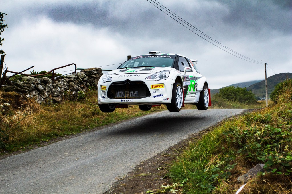 Greer flying to victory on the Down Rally | Image: D Harrigan Images [copyright remains with photographer - https://www.facebook.com/dharriganimages ]