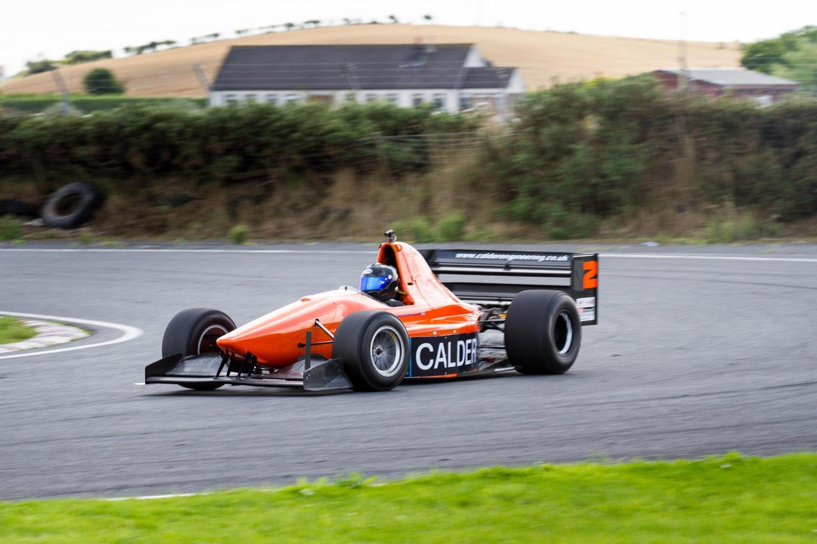 Colin Calder on his way to double victory at the SBD Motorsports MSA National Sprint Championship, hosted by the 500MRCI at Kirkistown racing Circuit in Co. Down, in a car that he shares with his daughter, who is reigning British Champion | Photo: GRAHAM BAALHAM-CURRY