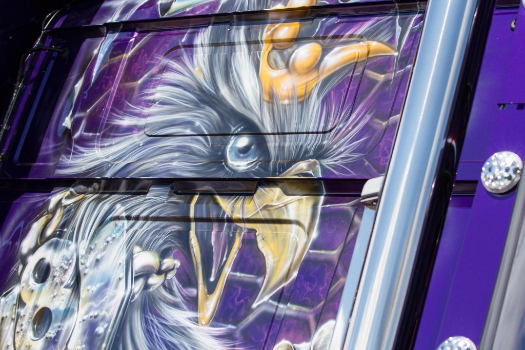 Incredible airbrush work on an award winning truck...