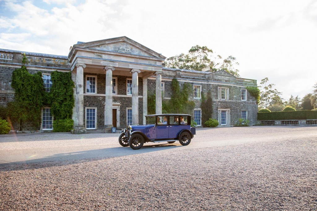Drivers got to see the manor house at Mount Stewart up close...