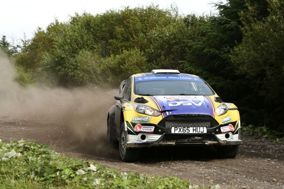 Winners Josh Moffett and Stephen Thornton in their Fiesta R5 at the 2018 Trailer Parts & Spares Lakeland Stages Rally. picture:Phil Stewart/PHILPICS.NET