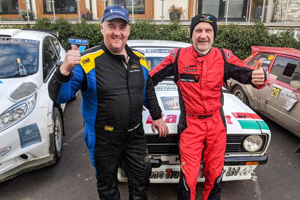2WD winners Paul Barrett and Gordon Noble. pic:Jonathan MacDonald