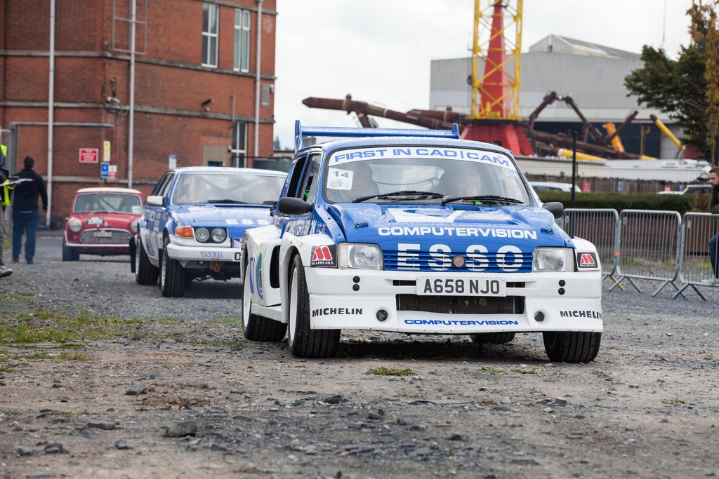 One of the most decorated local drivers, over many driving disciplines, Denis Biggerstaff in his Metro 6R4...
