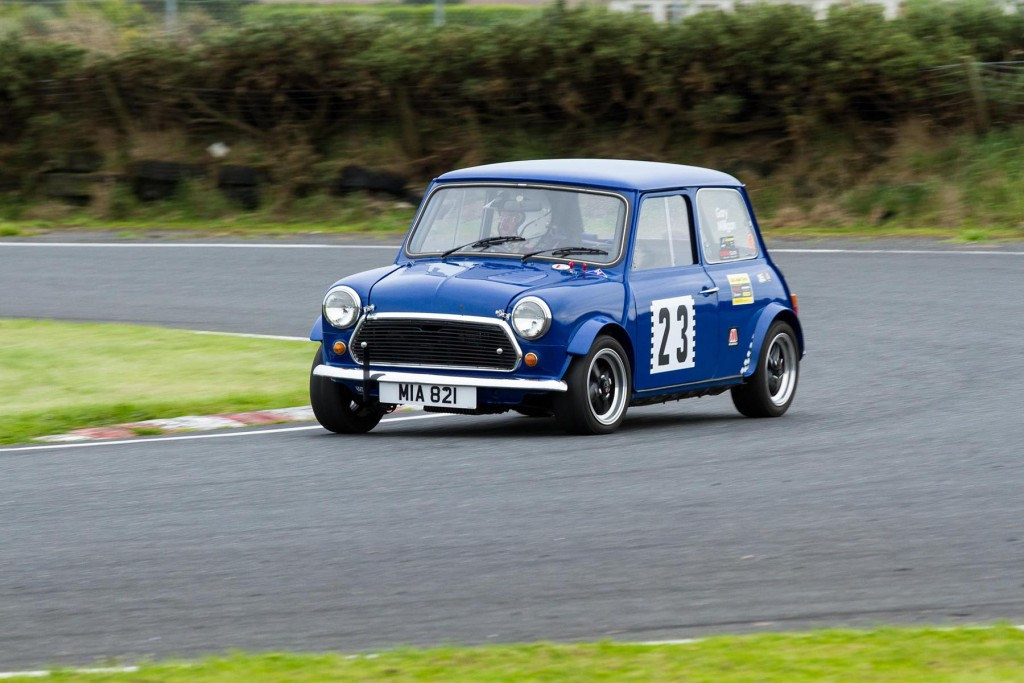 Gary Milligan in his Mini...