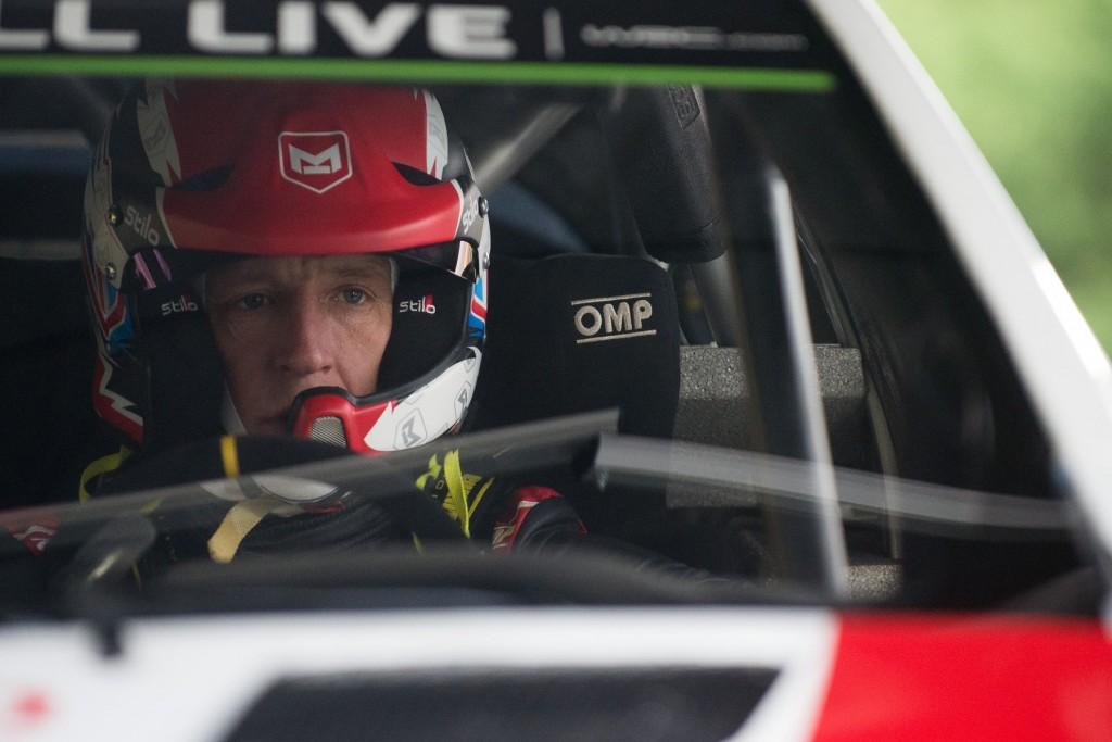 Dungannon's Kris Meeke looking focused aboard his new steed - the Toyota Yaris WRC...