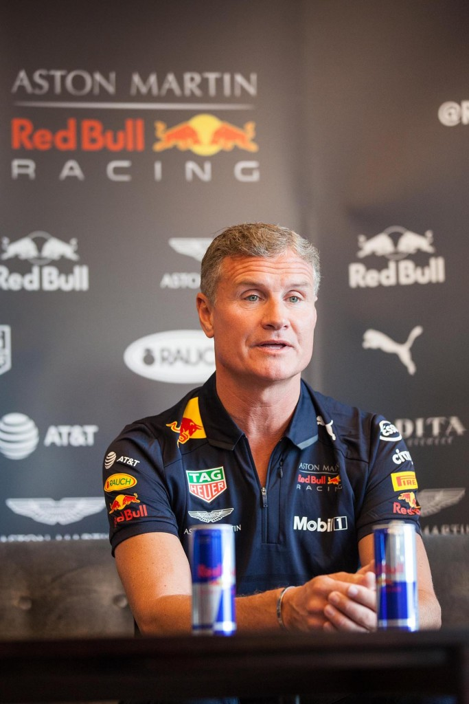 David Coulthard at today's press conference in Belfast...