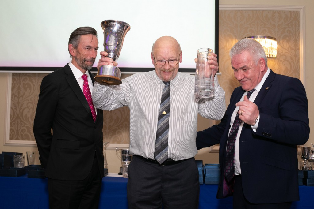 William Heaney receiving his 2018 ANICC Clubman of the Year award from Hugh Chambers CEO, Motorsport UK and Henry Campbell, Chairman ANICC | Image courtesy of John O'Neill - Sperrins Photography