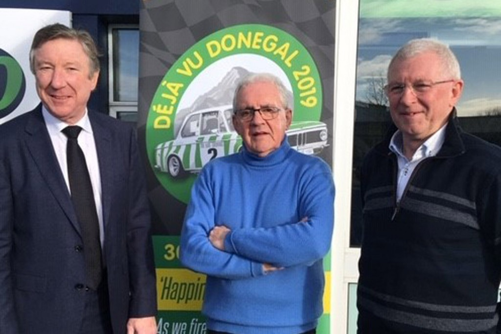 Winners all at the Press launch for Deja vu Donegal | L-R; John Lyons, twice winner; Cathal Curley, winner of first three events; James Cullen, twice winner.