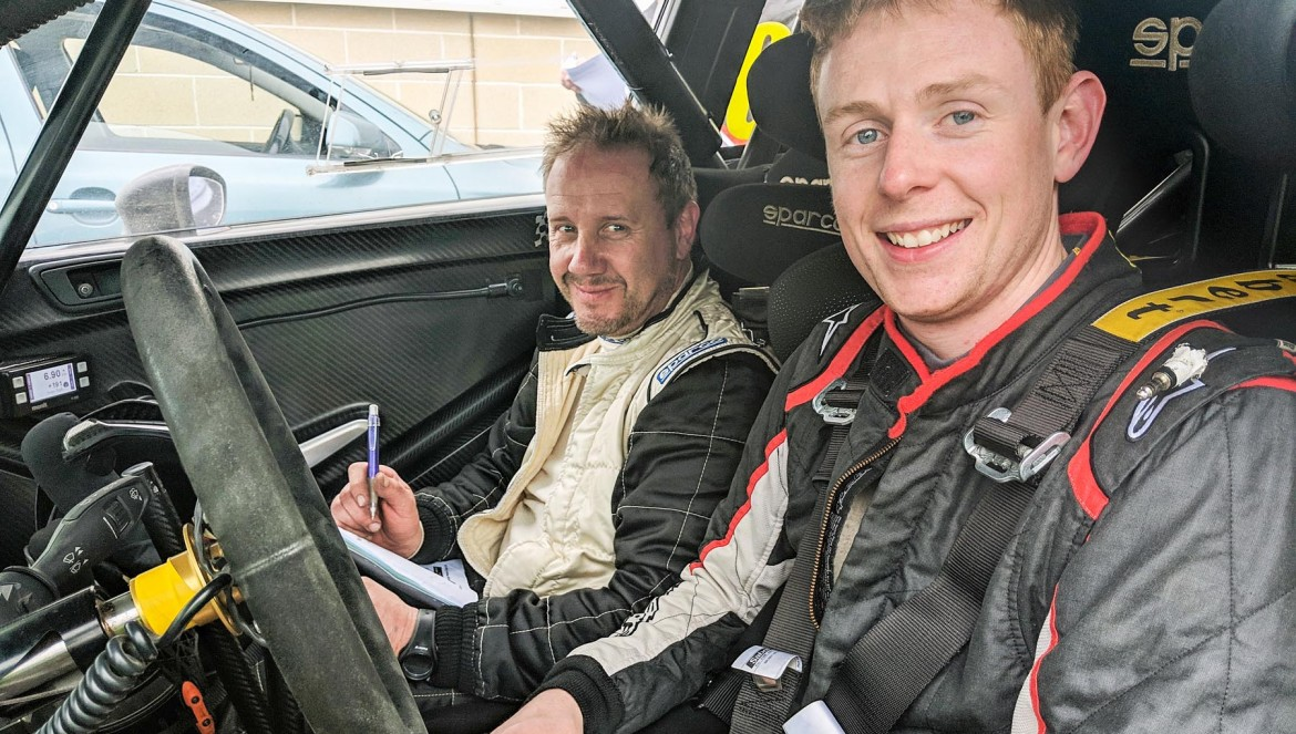 Rally winners Stephen Wright (right) and Keith Rainey in their Fiesta R5. picture:Jonathan MacDonald/MOTORSPORTPR.COM