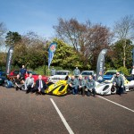 A selection of competing cars and their drivers, along with North Down and Ards Borough Council representatives, Stephen and Gordon Dunne, as well as championship sponsors, John Rice and Murray Harrison of Jem Oils, at the launch of the 2019 ANICC Millers Oils Northern Ireland hillclimb championship.