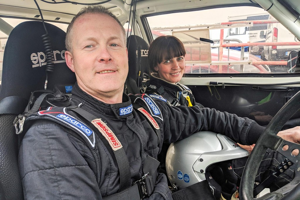 2WD Category Winners James and Heather Kennedy in their Escort MkII. picture:Jonathan MacDonald/MOTORSPORTPR.COM