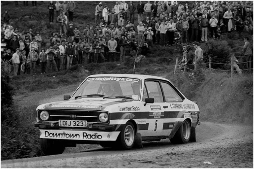 John Lyons and Bill Moffett head for their first of two consecutive Donegal wins in 1981 - Photo courtesy of Esler Crawford Photography